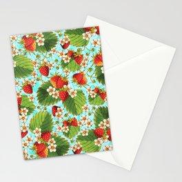 Botanical Strawberries Stationery Cards