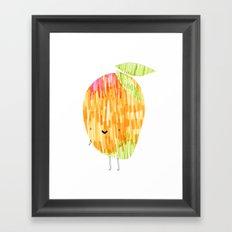 Eat Your Fruit! // MANGO Framed Art Print