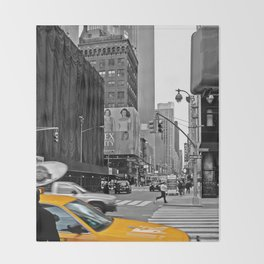 NYC - Yellow Cabs - The City Throw Blanket