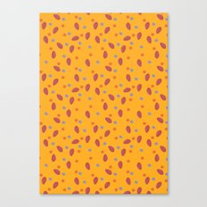yellow dotty Canvas Print