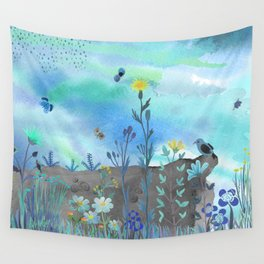 Blue Garden I Wall Tapestry