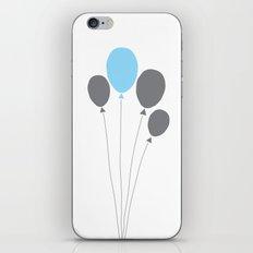 blue balloon iPhone & iPod Skin