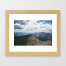 Sawatch Range and Midday Clouds Framed Art Print