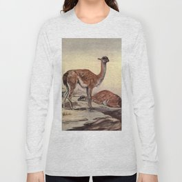 Vintage Guanacos Painting (1909) Long Sleeve T-shirt
