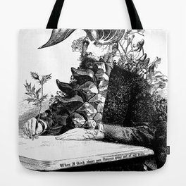 When I think about you, flowers grow out of my brain. Tote Bag