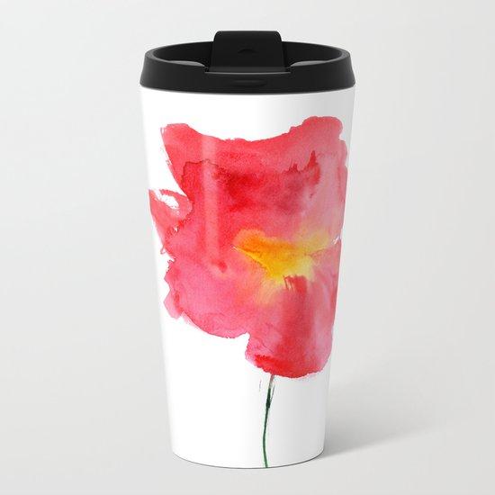 Dream big || watercolor flower Metal Travel Mug