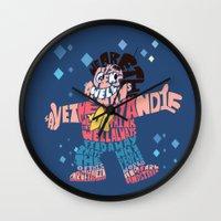 steven universe Wall Clocks featuring Steven universe by Rebecca McGoran