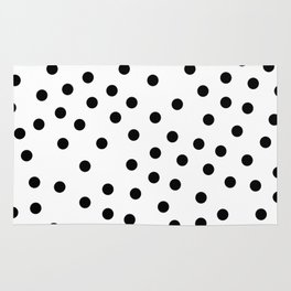 Simply Dots in Midnight Black Rug