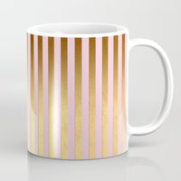striped Mugs featuring Striped by Better HOME