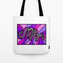 Psychedelic Lettering Mom Tote Bag