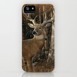 Deer - Birchwood Buck iPhone Case