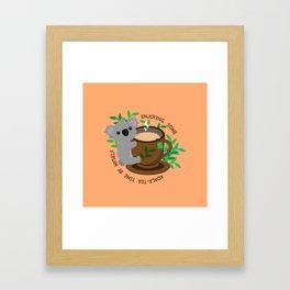 Koala-Tea Time Framed Art Print