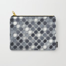 Metallic grid backdrop Carry-All Pouch