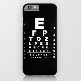 Inverted Eye Test Chart iPhone Case