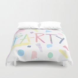 Pastel party Duvet Cover