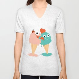 You, me and ice cream Unisex V-Neck