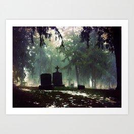 Cemetary 3 Art Print