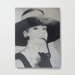 Miss Holly Golightly Metal Print