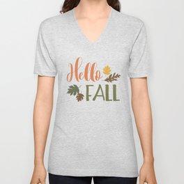 Hello Fall Unisex V-Neck