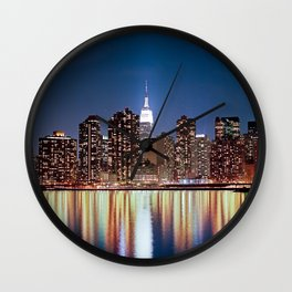 The reflection of a big city - NYC Wall Clock