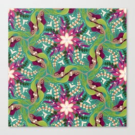 Mermaid Swirl Pattern Canvas Print