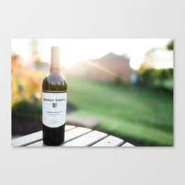 Wine and the Sunset: Landscape Canvas Print