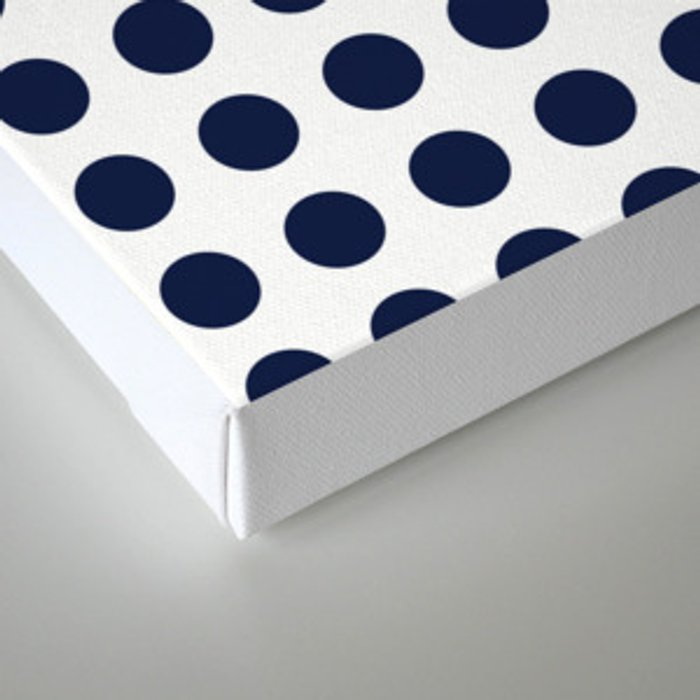 Simply Polka Dots in Nautical Navy Blue Canvas Print