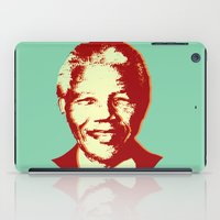 mandela iPad Cases featuring NELSON MANDELA by mark ashkenazi