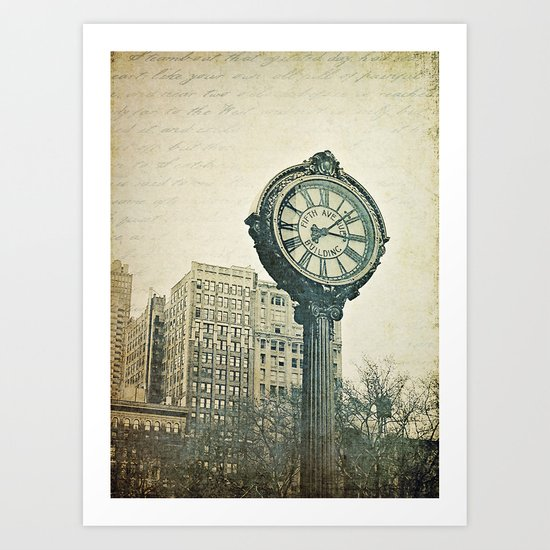 Fifth Avenue time Art Print