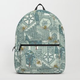 hexagon city Backpack