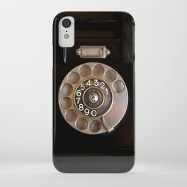 OLD BLACK PHONE iPhone Case