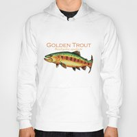 trout Hoodies featuring Golden Trout by MoosePaw