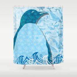 Penguin: Love Shower Curtain