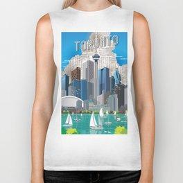 Toronto Skyline wide Biker Tank