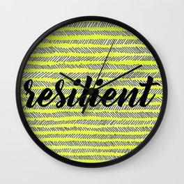 Resilient - Yellow Wall Clock