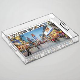 Times Square Sparkle (with typography) Acrylic Tray