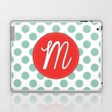 Monogram Initial M Polka Dot Laptop & iPad Skin
