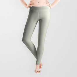 Light Pastel Green Gray Neutral Off-white Solid Color Parable to Valspar Aspiration 5004-1A Leggings