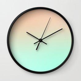 OSMOSIS BEACH - Minimal Plain Soft Mood Color Blend Prints Wall Clock