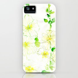 White Hollyhocks iPhone Case