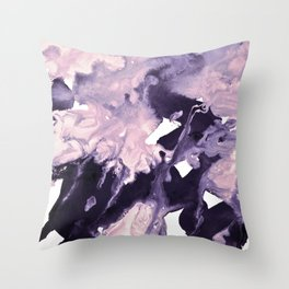 inkblot marble 9 Throw Pillow