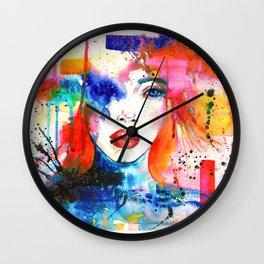 Women Face Wall Clock