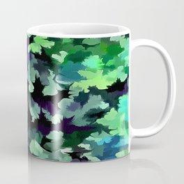 Foliage Abstract Pop Art In Jade Green and Purple Coffee Mug