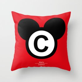 Walt's Legacy Throw Pillow