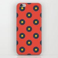 vinyl iPhone & iPod Skins featuring Vinyl by Wallpaper Disco