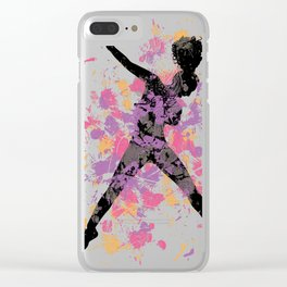 Hip Hop Dancer Clear iPhone Case