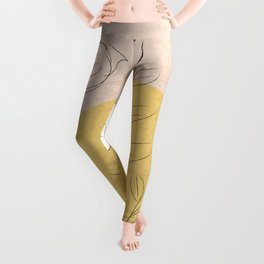 Minimal floral pattern Leggings