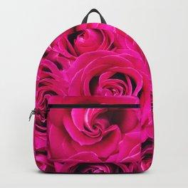 Romantic Pink Purple Roses Pattern Backpack