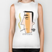 cigarettes Biker Tanks featuring Cigarettes by Brian Sisson