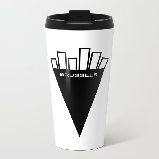 Fries of Brussels, the best in the world Metal Travel Mug